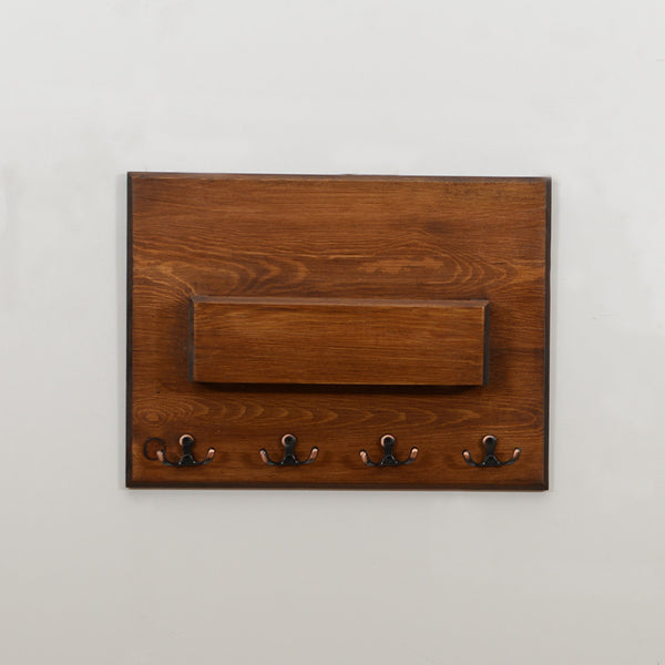 Woodymood Modern Style Wall Organizer Shelf-Dark Hazelnut