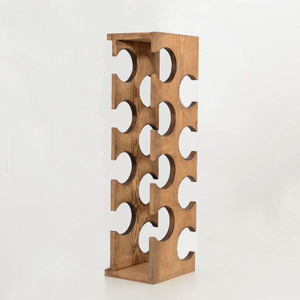 Woodymood Mountain Wine Rack-Natural
