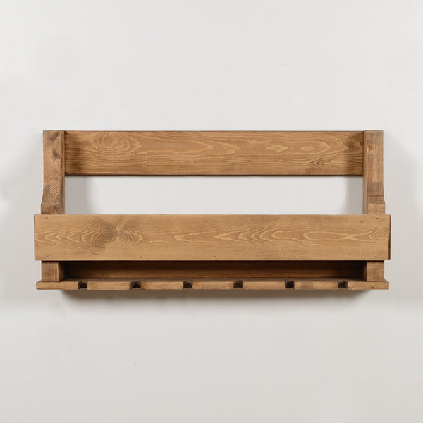 Woodymood Natural Wine Rack Gloss Holder-Natural