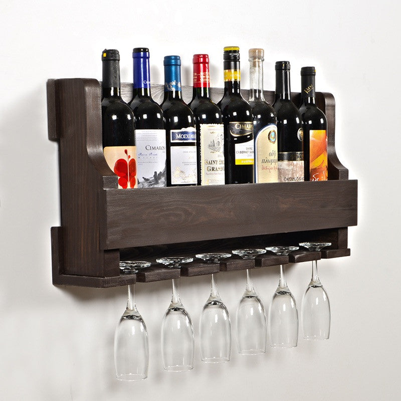 Woodymood Natural Wine Rack Gloss Holder-Wenge