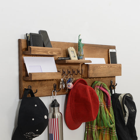 Woodymood Professional Wall Organizer Shelf-Natural