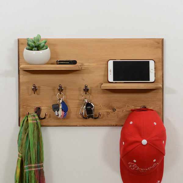 Woodymood Vintage Wall Organizer Shelf-Natural