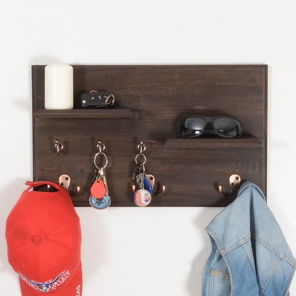 Woodymood Vintage Wall Organizer Shelf-Wenge