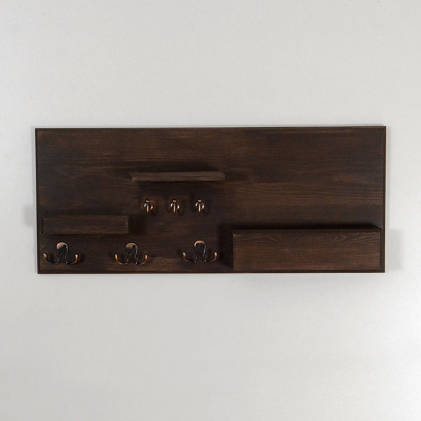 Woodymood Welcome Wall Organizer Shelf-Wenge