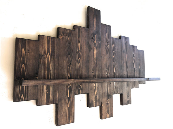 Wall Mounting shelf, hand made wooden wall rack, wood, rustic decorative shelf