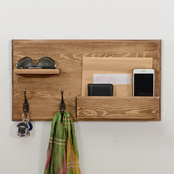 Woodymood Country Style Wall Organizer Shelf-Natural