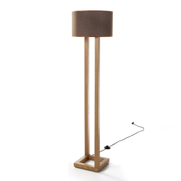 Woodymood Parallel Floor Lamp-Brown
