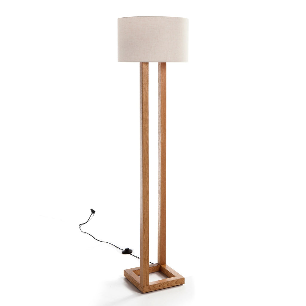 Woodymood Parallel Floor Lamp-Cream