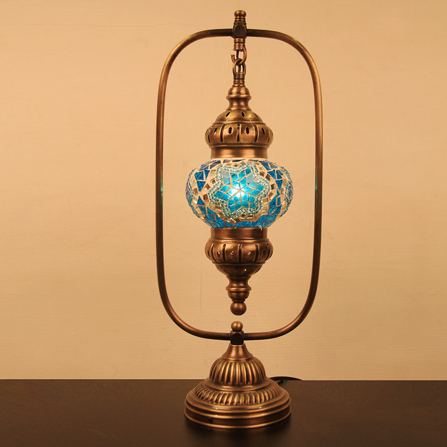 table base india turquoise walmart lamps lamp ceramic glass blue