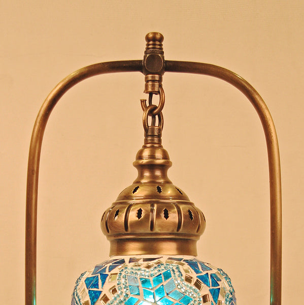 Woodymood Mosaic World Table Lamp-Star Turquoise