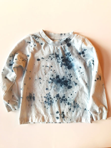 Indigo constellation long sleeve tee - organic cotton