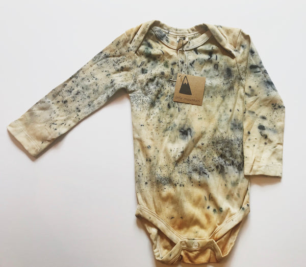 Natural dye onesie - organic cotton