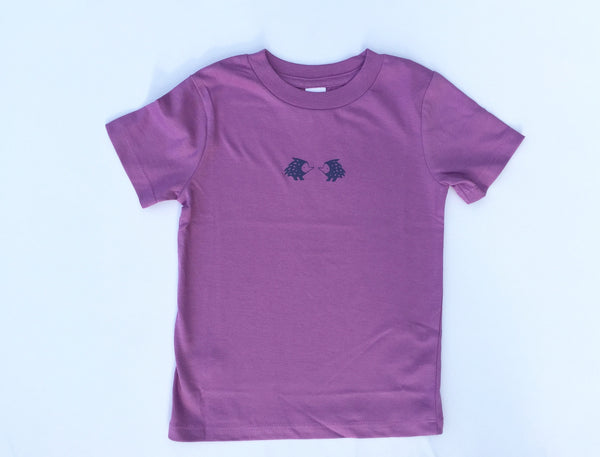 Porcupine T-shirt in magenta - organic cotton