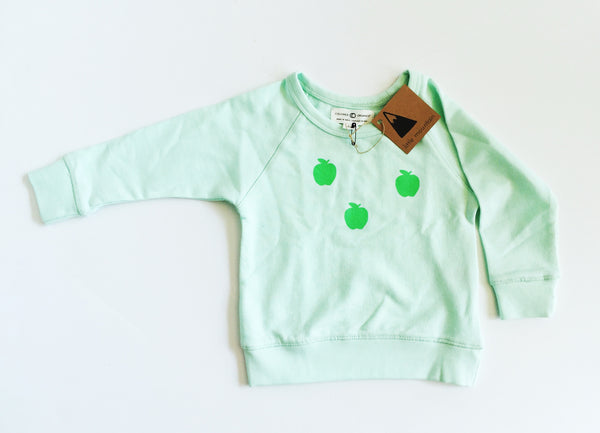 apple sweatshirt - organic cotton - SALE