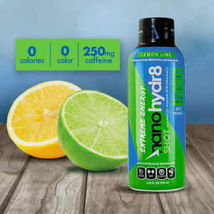 Lemon Lime EXTREME 12 Pack of 4oz Shooters - NanoHydr8