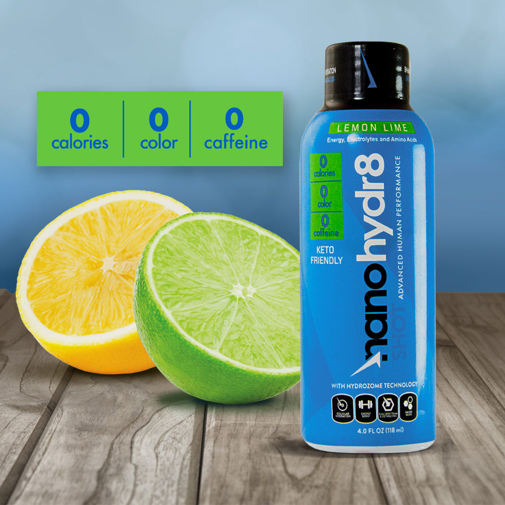 Triple Zero Lemon Lime 12 Pack of 4oz Shooters - NanoHydr8