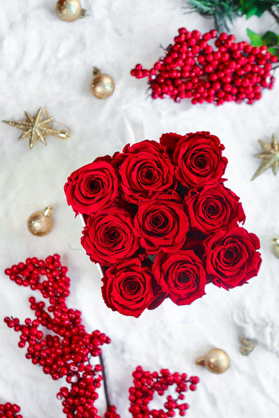 Infinity Red - Real Roses That Last 1-2 Years | Luxe Blooms
