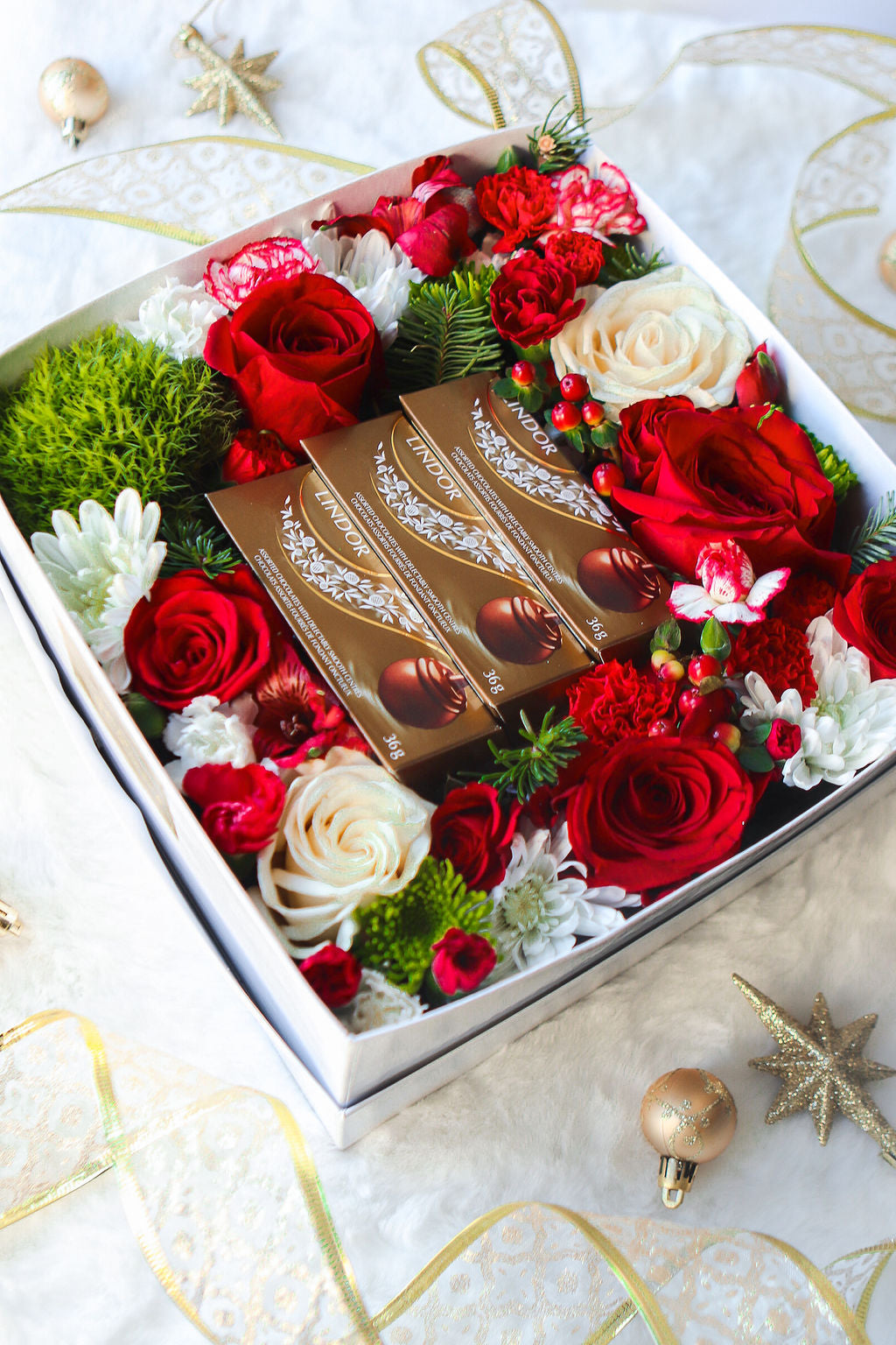 Holiday Lindt Chocolate Box | Luxe Blooms