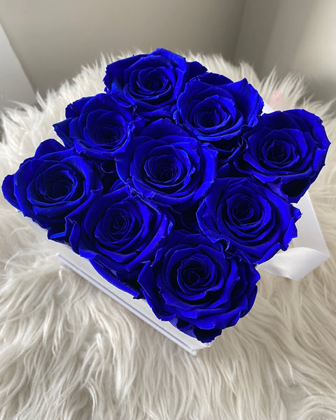 Long Lasting Infinity Roses (Royal Blue)