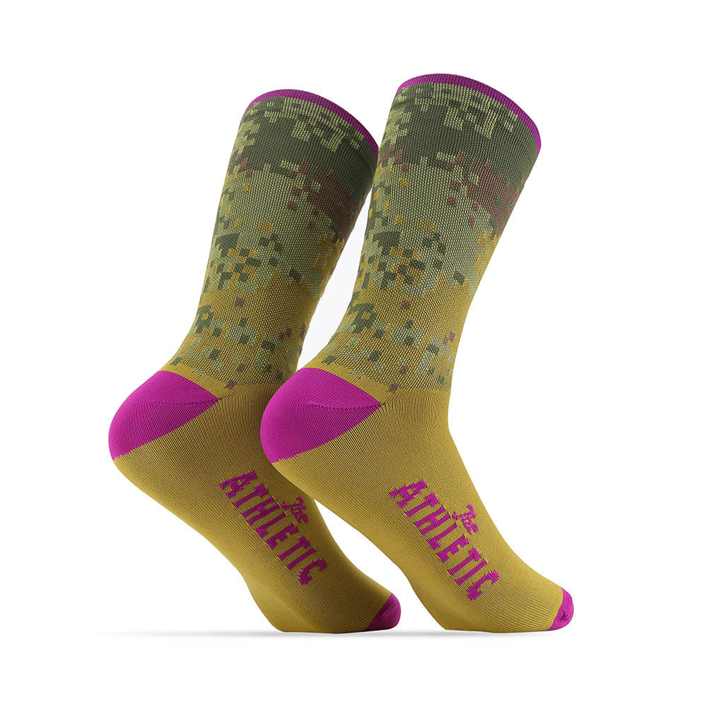 Digi Camo Socks - Raspberry Top