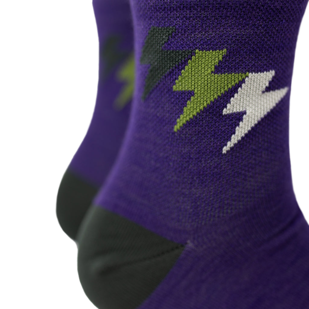 Three Bolt Low Wool Socks - Plum