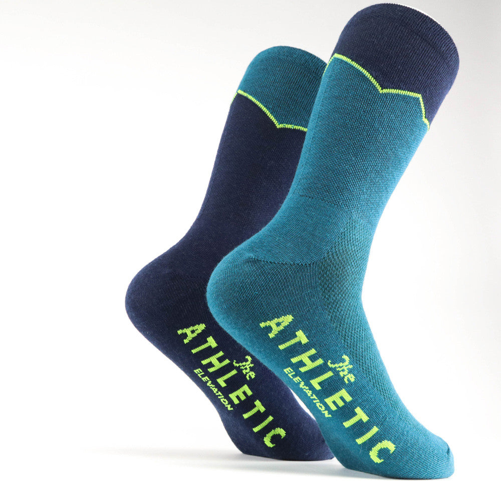 Elevation Wool Sock - Lapis & Navy