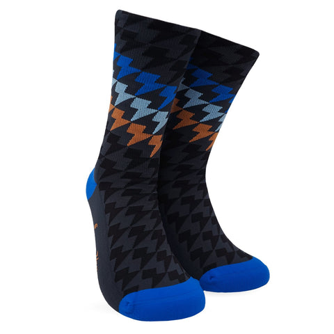 Lightning Bolt Gradient Sock - Deep Blue