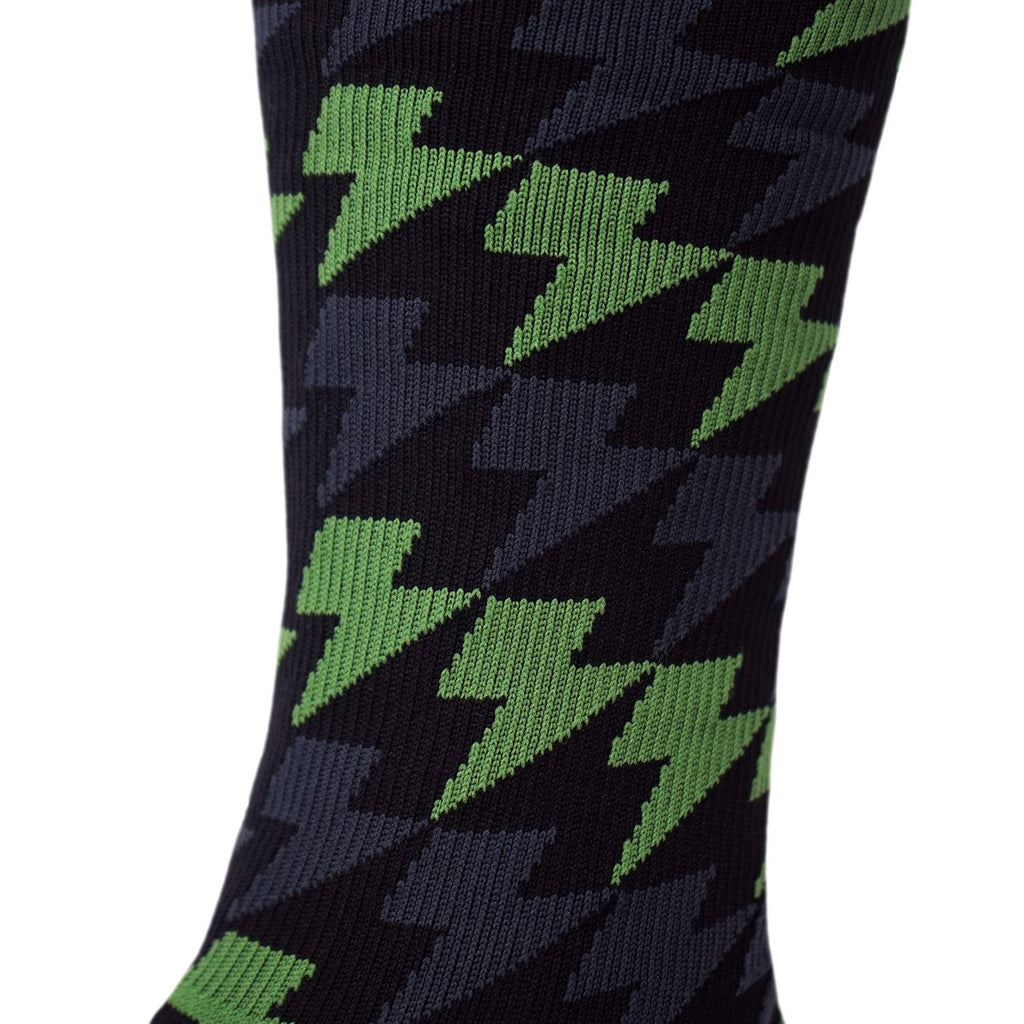 Lightning Bolt Gradient Sock - Evergeen