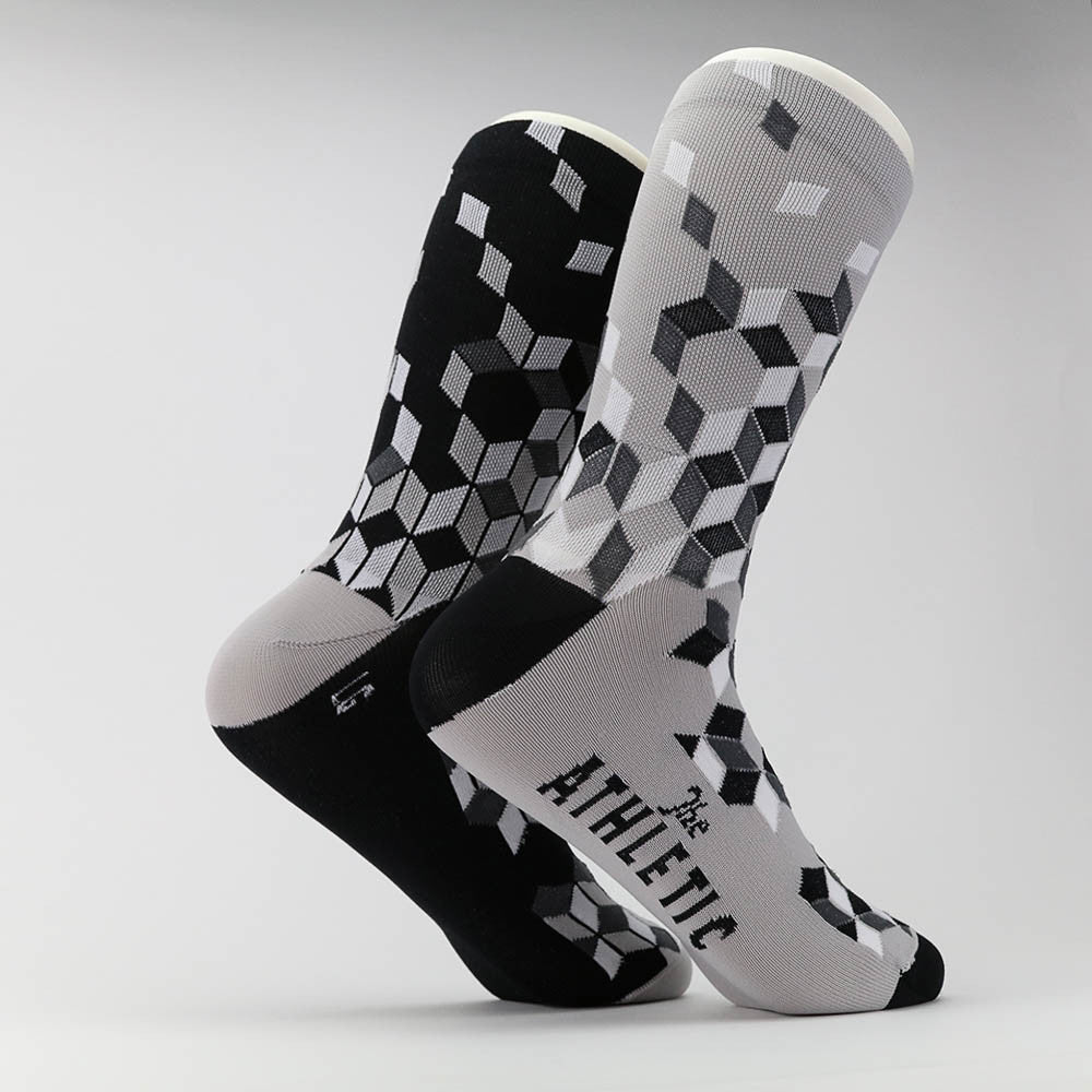 La Cubiste Sock - Black & Grey