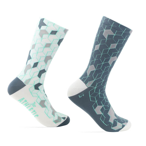 La Cubiste Sock - Mint/Grey