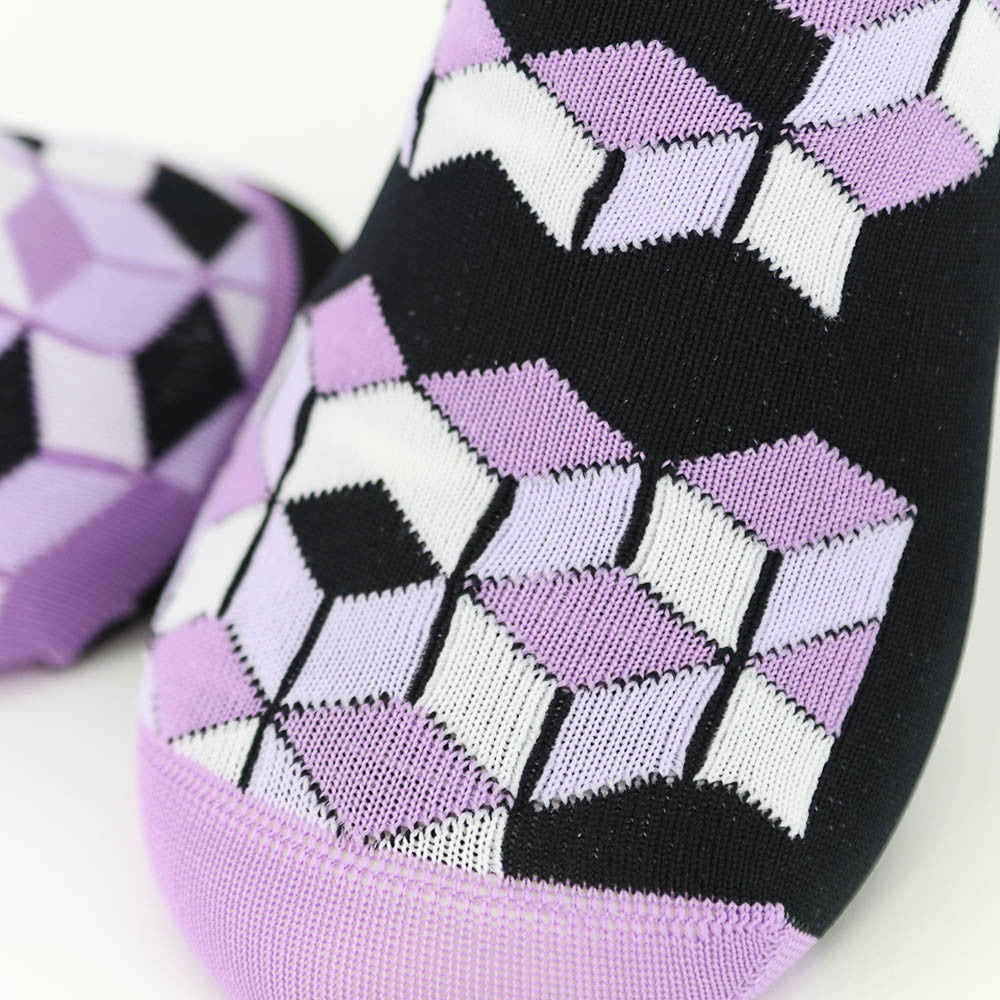 La Cubiste Sock - Pavé Purple