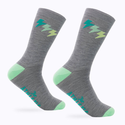Three Bolt Wool Sock - Morning Mist Grey