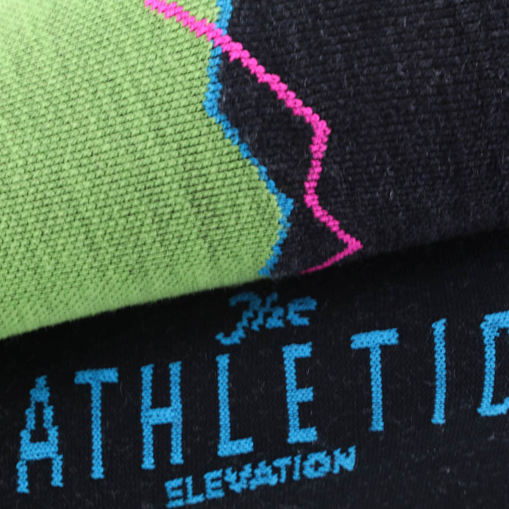 Elevation Wool Socks - Wasabi/Charcoal