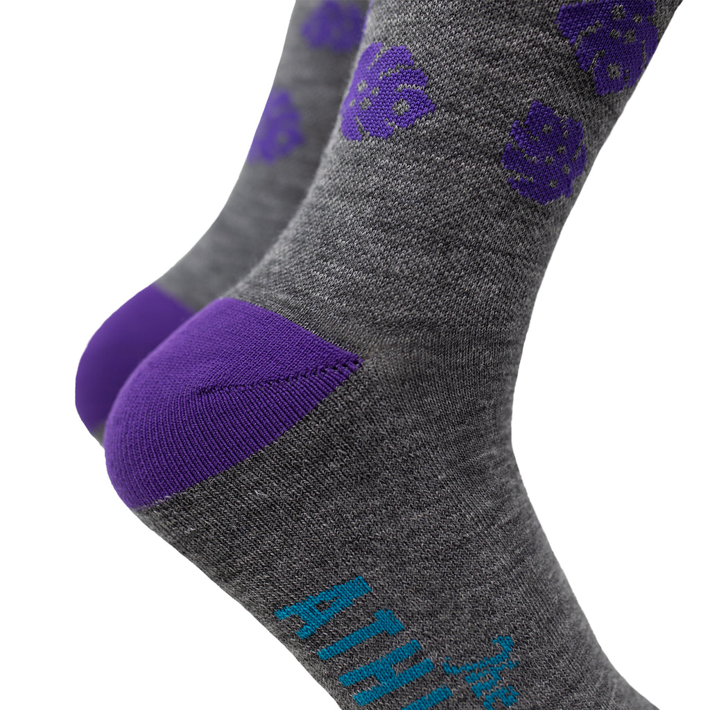 Island Thin Wool Socks - Silver Fox