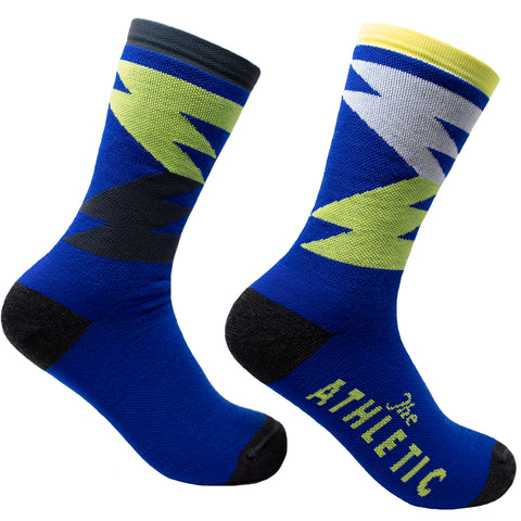 Quilt Wool Socks - Royal