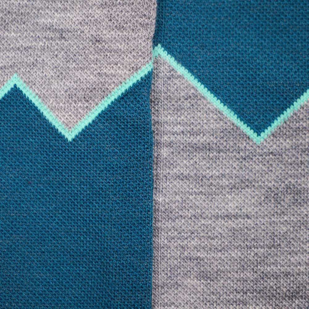 Elevation Wool Socks - Lapis & Grey