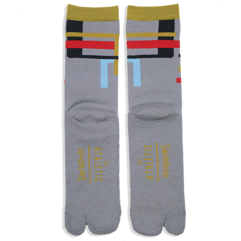 The Athletic x Sim Works Wool Tabi Sock - Grey