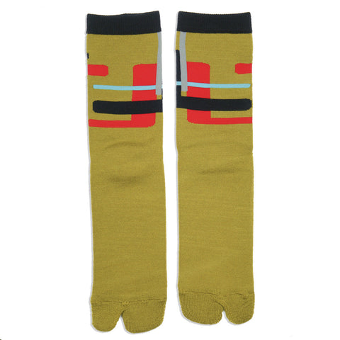 The Athletic x Sim Works Wool Tabi Sock - Saffron