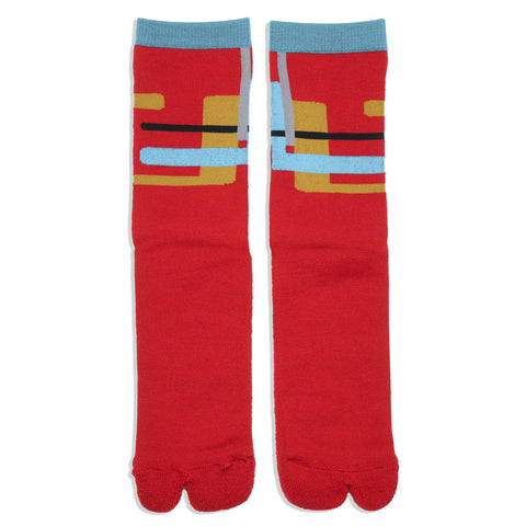 The Athletic x Sim Works Wool Tabi Sock - Cardinal