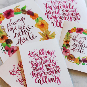 Art Night Out - Watercolor Lettering Workshop - July 27th