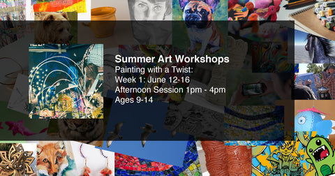 Painting with a Twist: Summer Art Workshops week 1: Ages 9-14