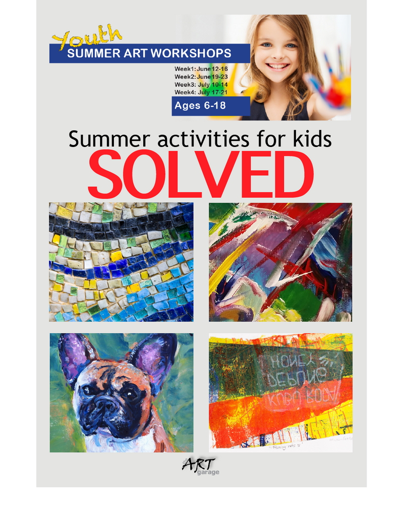 Summer activities for kids - SOLVED! Sign up for our Summer Art Workshops.