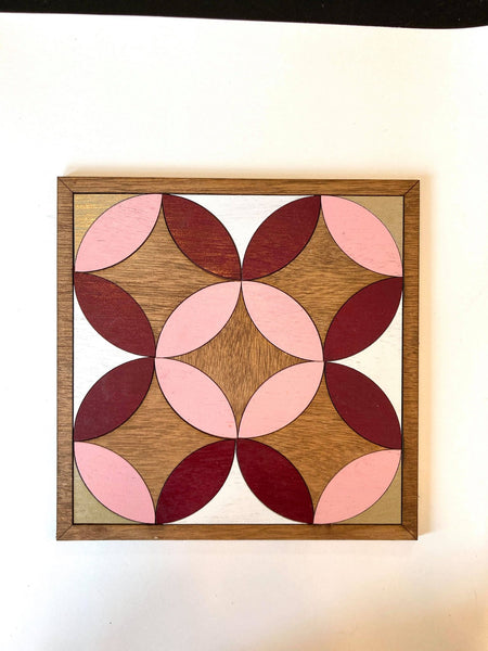 Nested Circles Wood Wall Art DIY Project Tutorial Kit