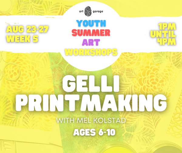 Gelli Printmaking (Ages 6-10) PM