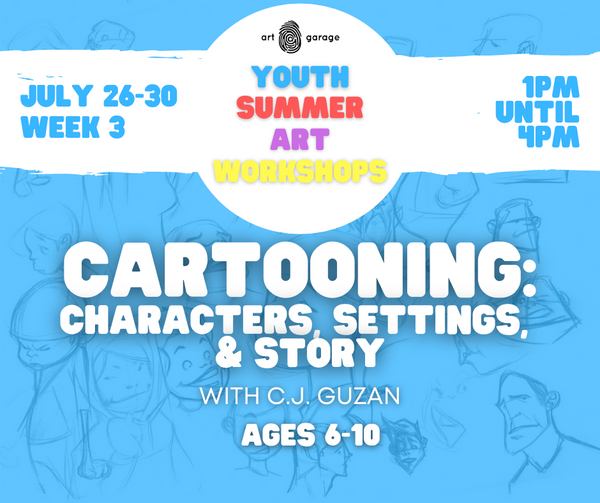 Cartooning: Characters, Settings, & Story (Ages 6-10) PM