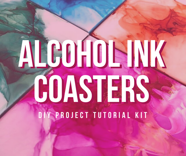 Alcohol Ink Coaster DIY Project Tutorial Kit