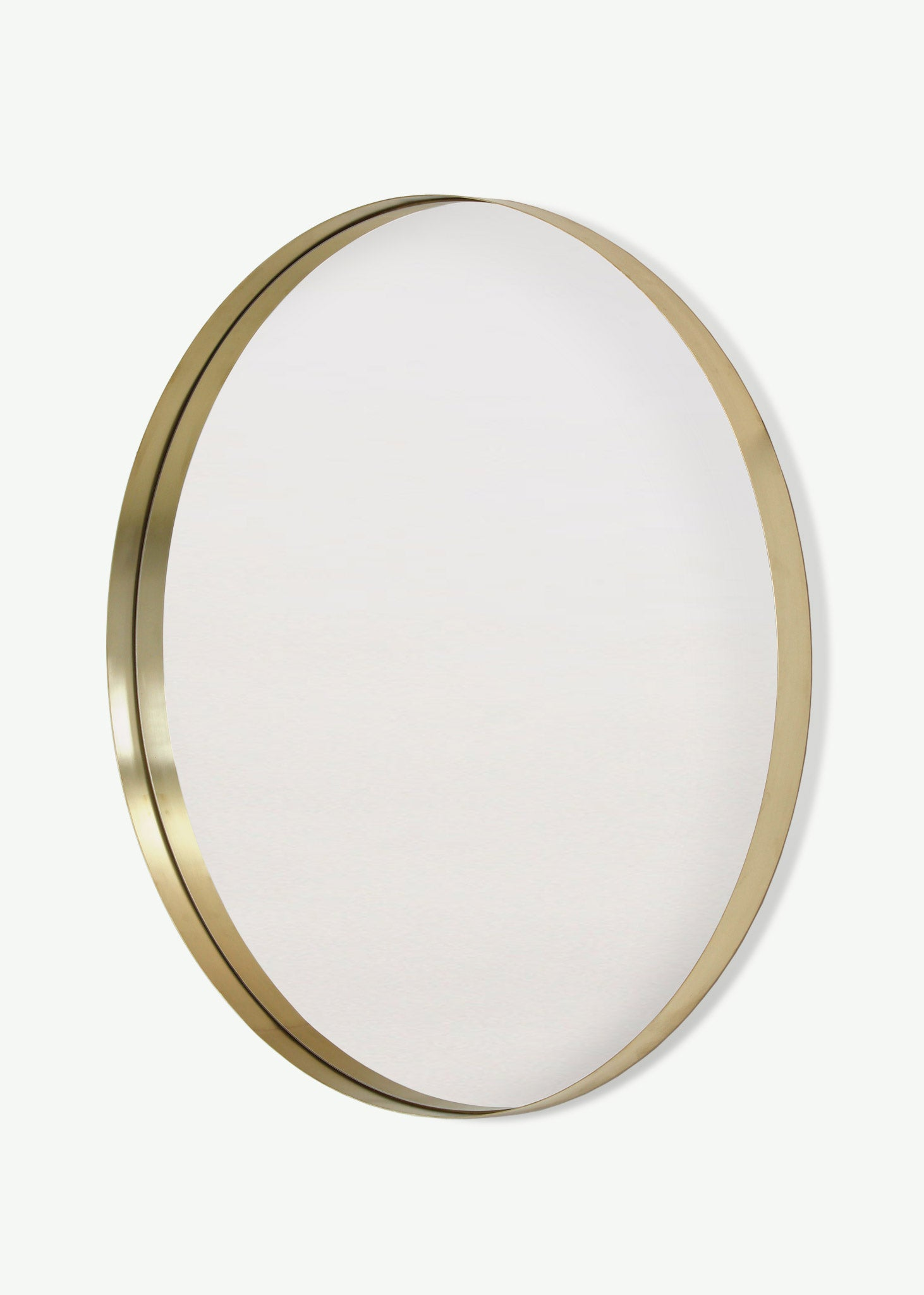 Brass Deep Frame Circular Mirrors - LED Backlit