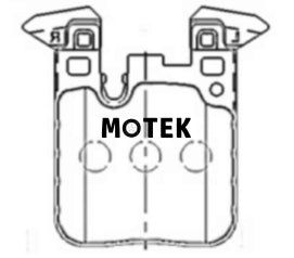 Motek Racing performance brake pads ST600 for BMW M2/3/4 rear calipers - 4 Second Racing Club