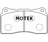 Motek Racing performance brake pads ST600 Mitsubishi Evo and Subaru STI Front calipers - 4 Second Racing Club