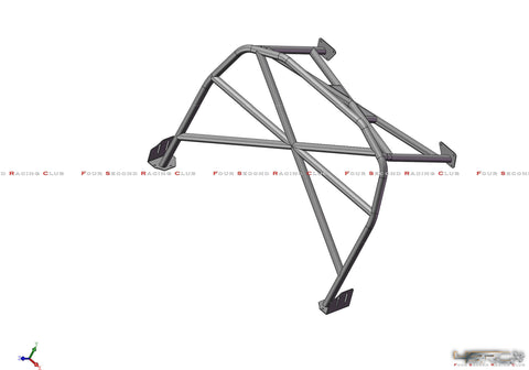 4SRC Nissan GT R35 Clubman Spec half roll cage - 4 Second Racing Club